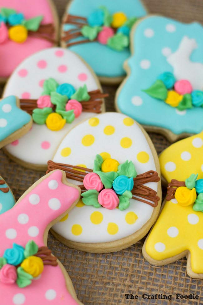 Bunny Easter Sugar Cookies with EggsThe Crafting Foodie