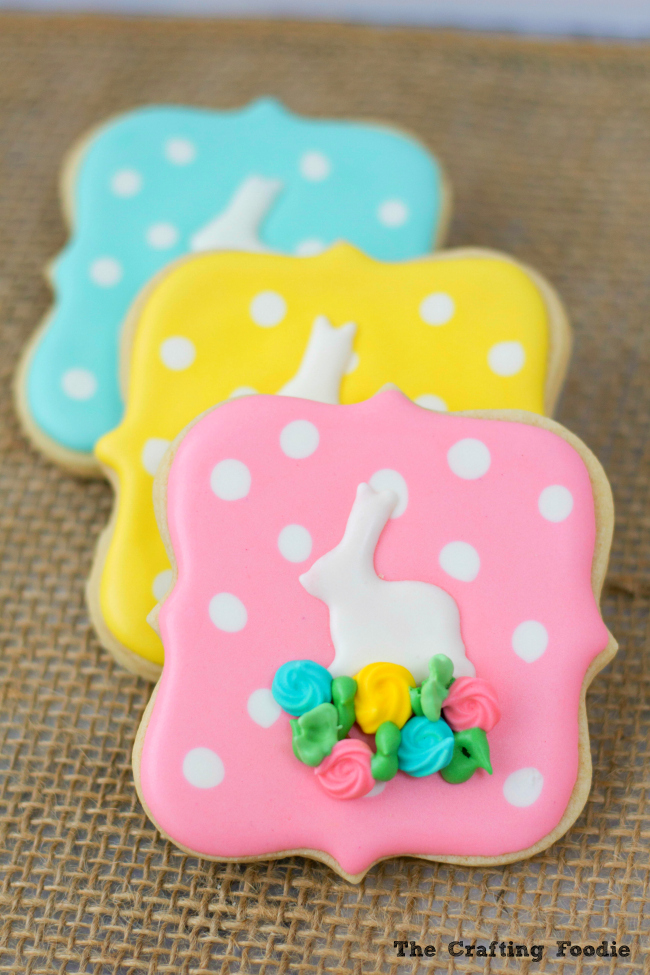 Bunny Easter Sugar Cookies with FlowersThe Crafting Foodie