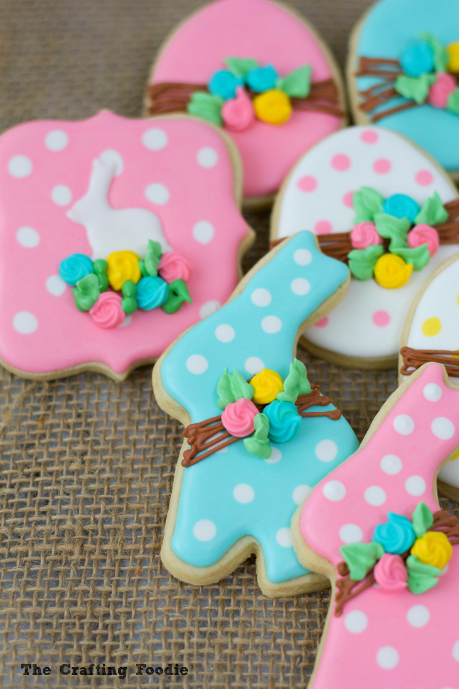 Bunny Easter Sugar Cookies with LeavesThe Crafting Foodie