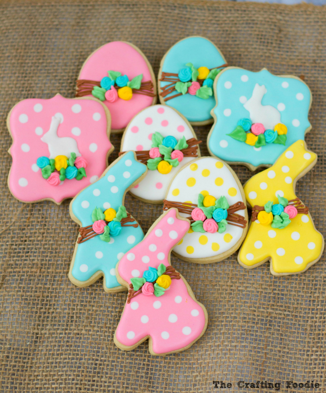 Bunny Easter Sugar Cookies_The Crafting Foodie