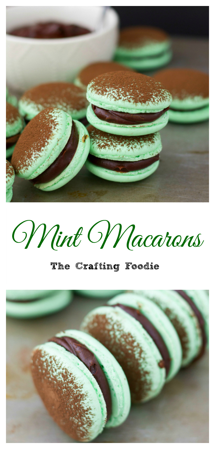 Mint Macarons Pinterest PinThe Crafting Foodie