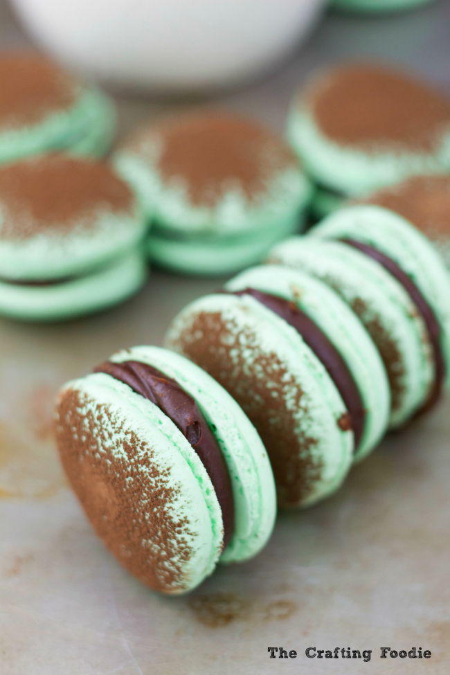 Mint Macarons with Mint GanacheThe Crafting Foodie