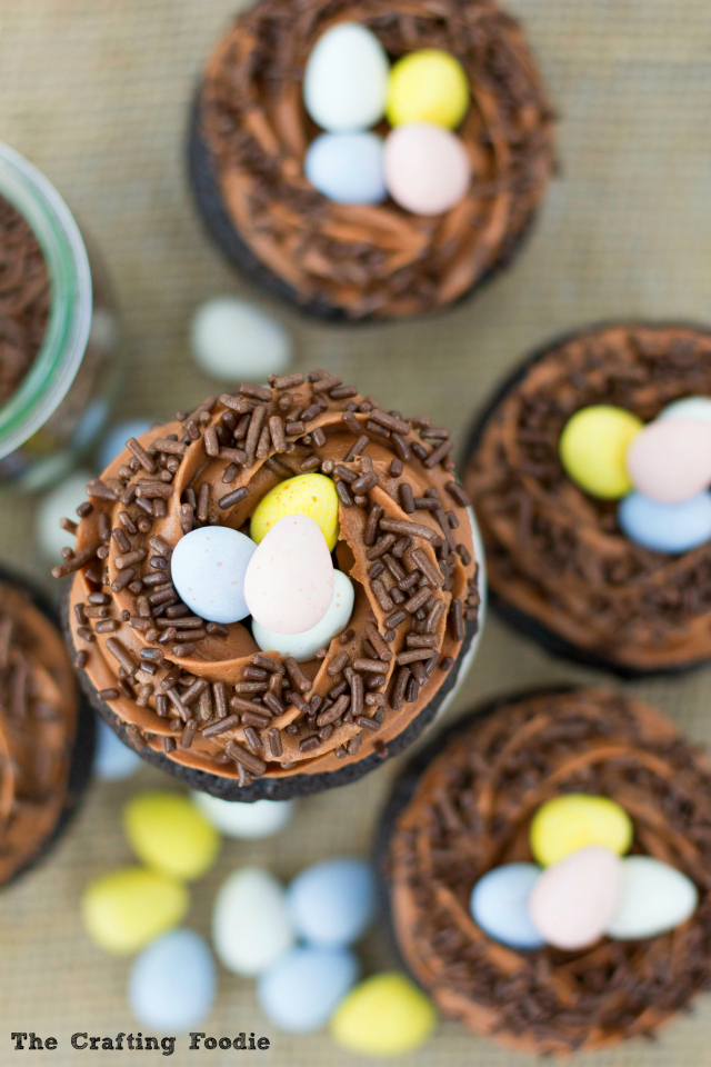 Robins' Nest Cupcakes with Chocolate EggsThe Crafting Foodie