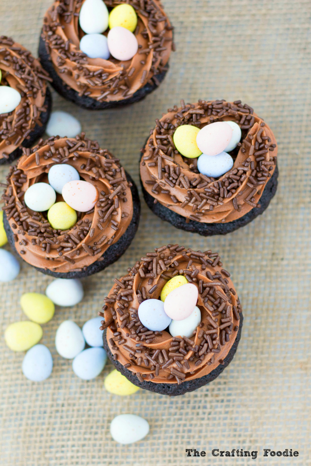 Robins' Nest Cupcakes with SprinklesThe Crafting Foodie