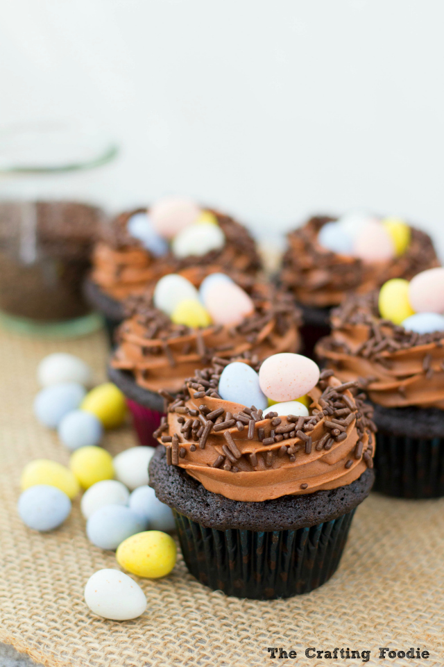 Robins' Nest Cupcakes_The Crafting Foodie