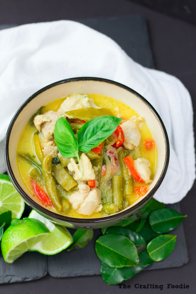 Thai Green Curry with ChickenThe Crafting Foodie