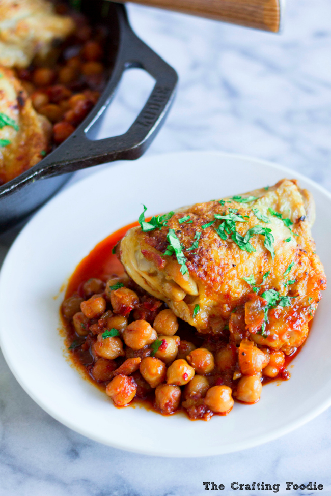 Roasted Chicken with Chickpeas One Pot MealThe Crafting Foodie