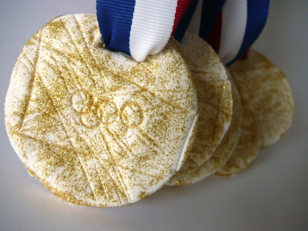 Olympic Crafts for Children – Air-Dry Clay Gold Medals
