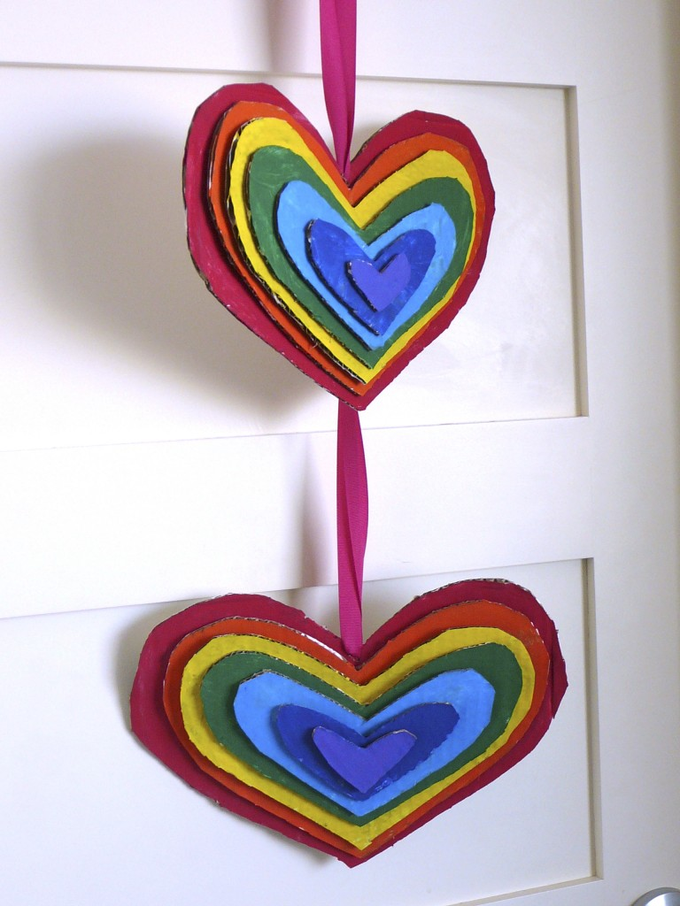 Rainbow-Heart Door Hanger