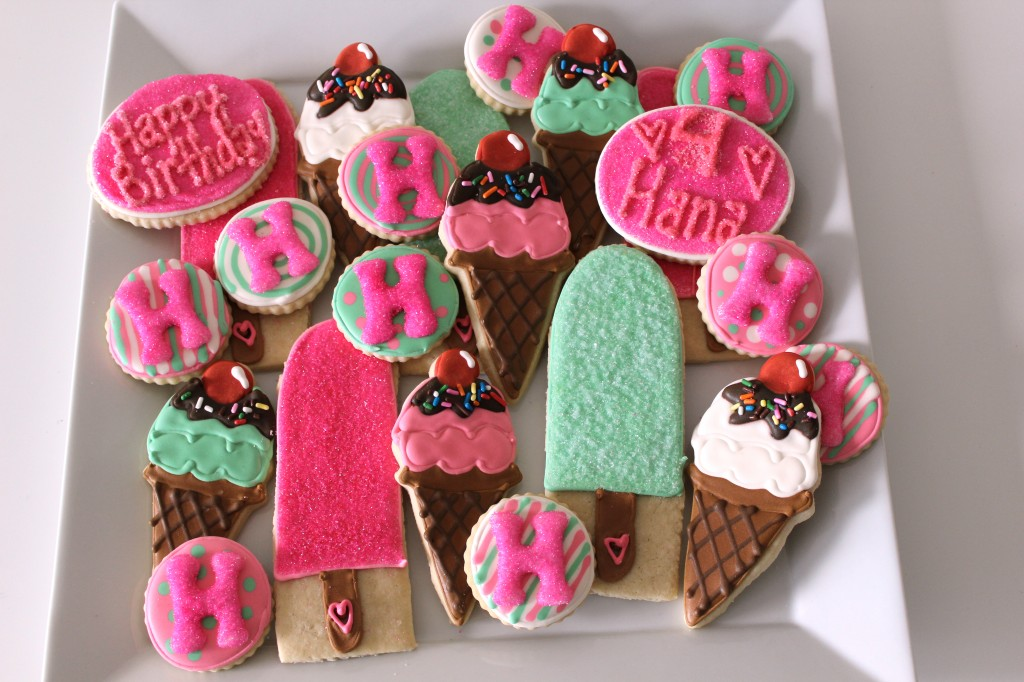 Ice Cream and Popsicle Decorated Sugar Cookies