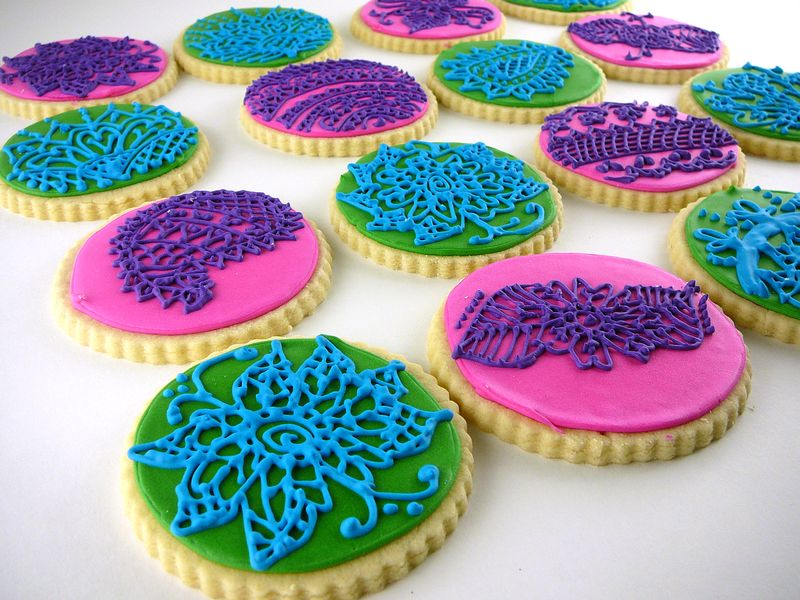 Henna Inspired Cookies | The Crafting Foodie