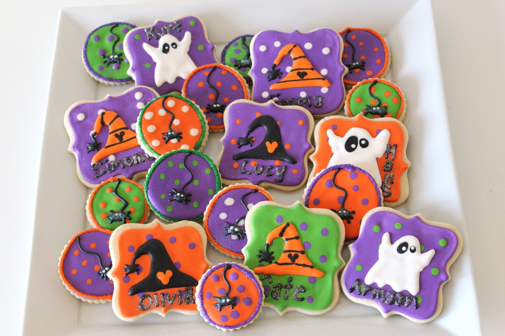 Halloween Ghost, Witch, and Spider Cookies