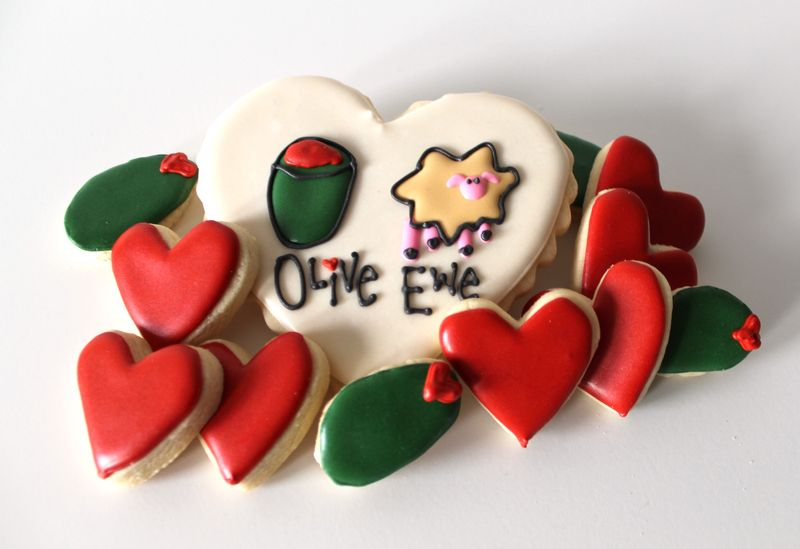 Olive Ewe Cookies | The Crafting Foodie