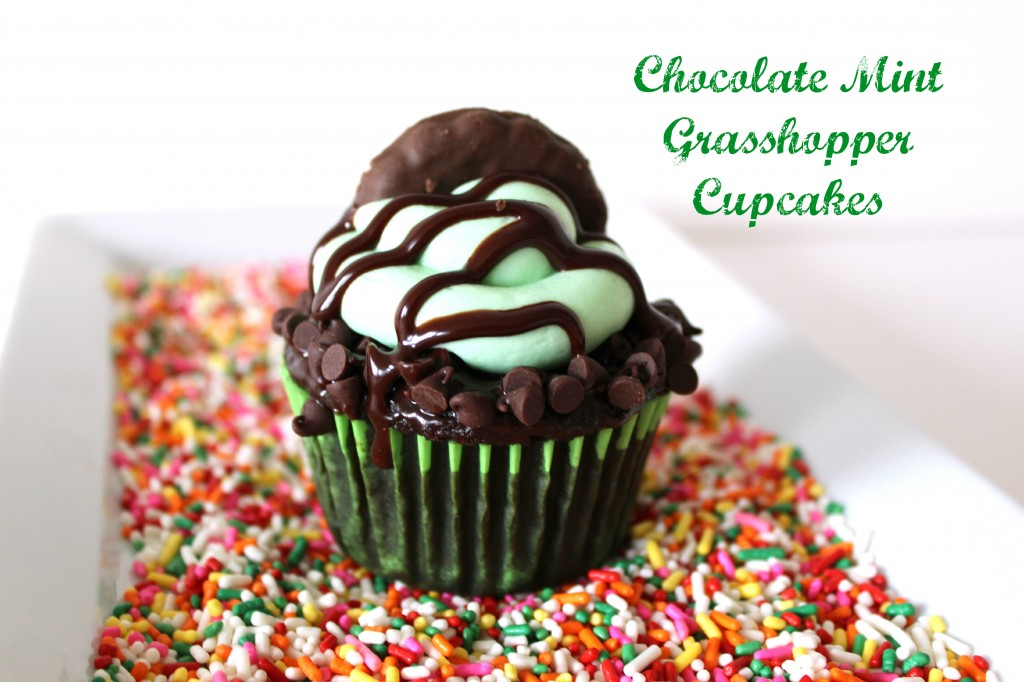 Grasshopper Cupcakes – Rich, Minty, Green, Chocolate Cupcakes Perfect for St. Patrick's Day
