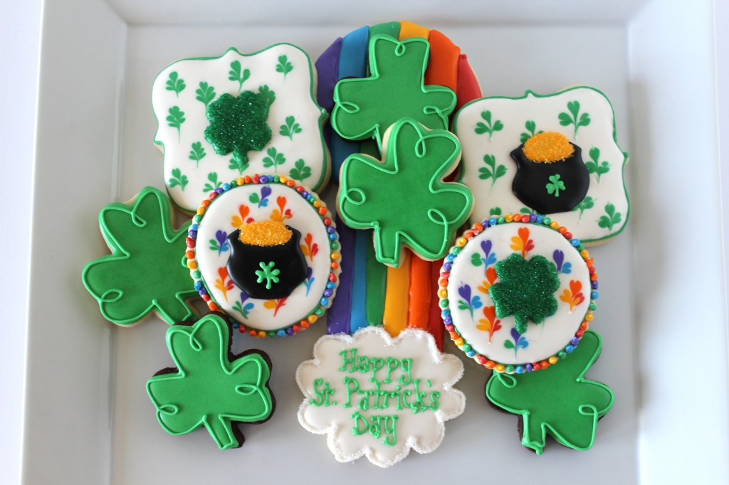 St. Patrick's Day Sugar Cookies – Clovers, Rainbows, and Pots O'Gold