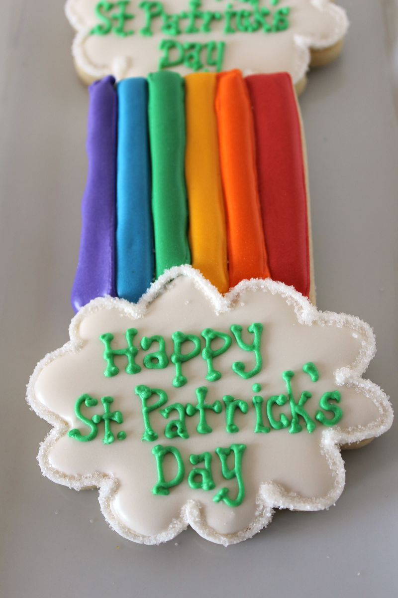 St Patricks Day Rainbow Cookies | The Crafting Foodies