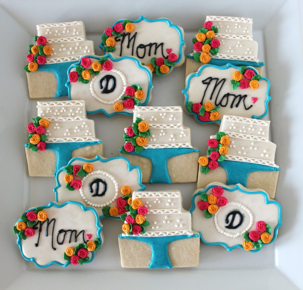 Mother's Day Decorated Cookies with Royal Icing Roses