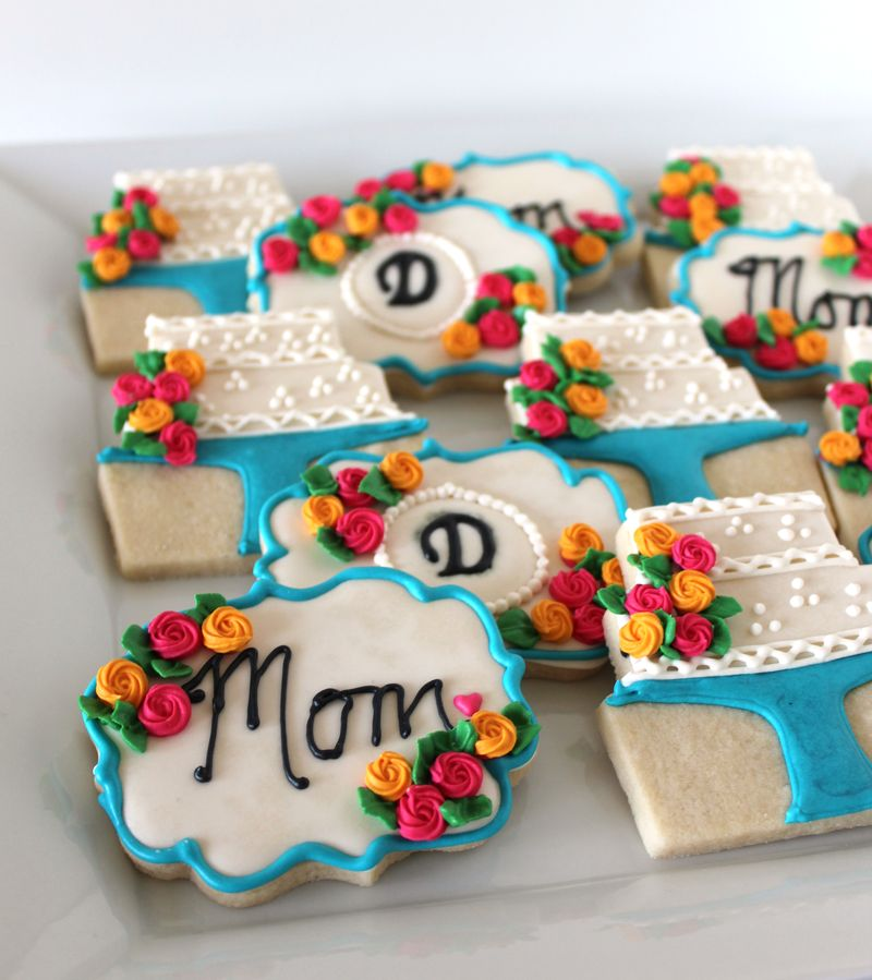 Mother's Day Cookies with Roses