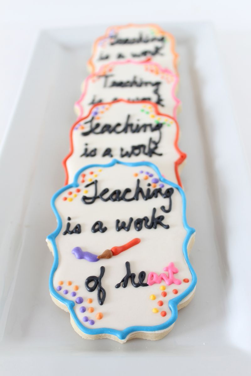 Teacher Cookies|The Crafting Foodie