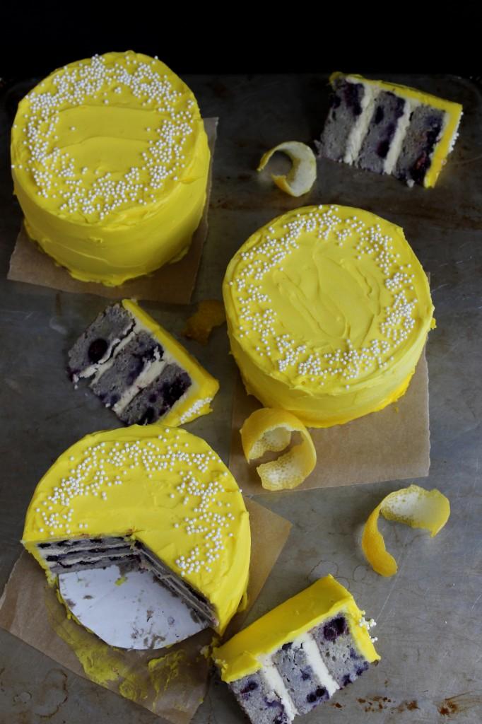 Mini-Blueberry Lemon Cakes