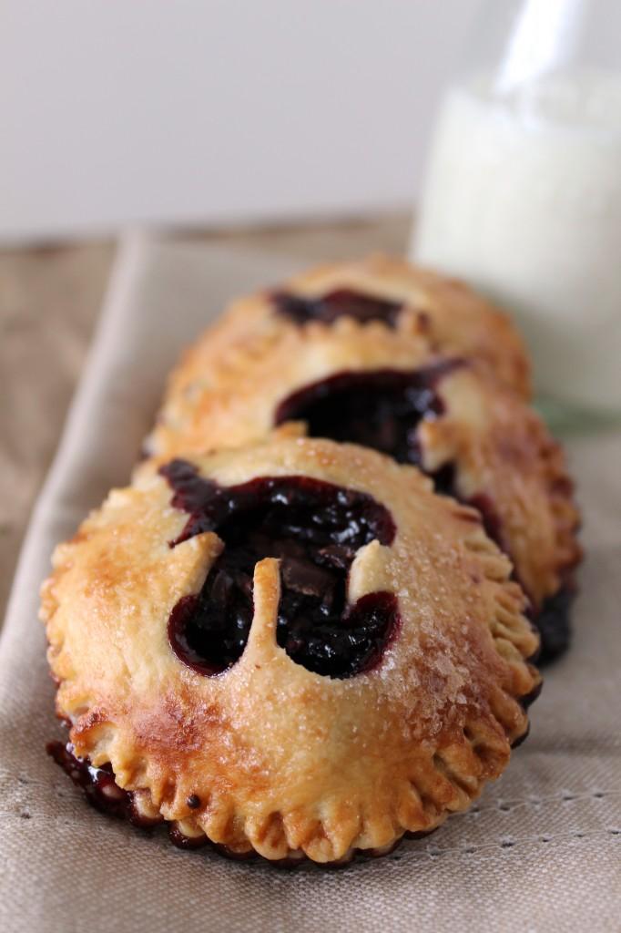Cherry and Dark Chocolate Hand Pies for Pi Day