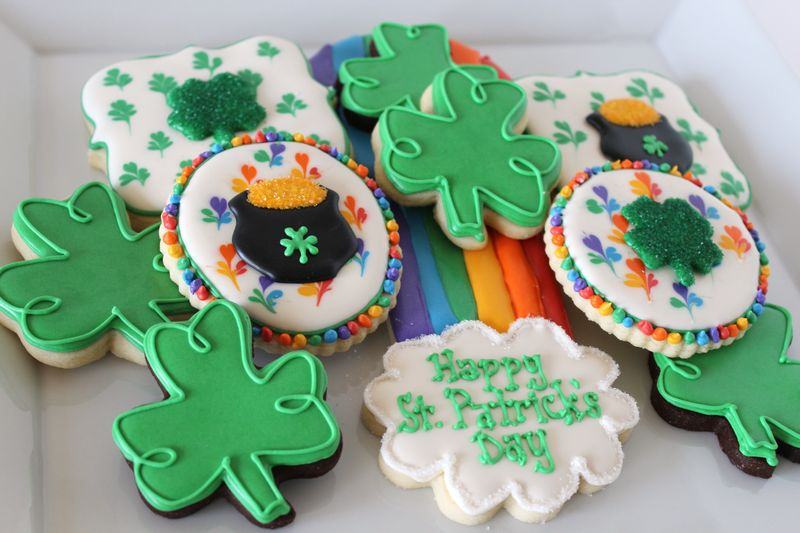 St. Patrick's Day Rainbow Cookies | The Crafting Foodie