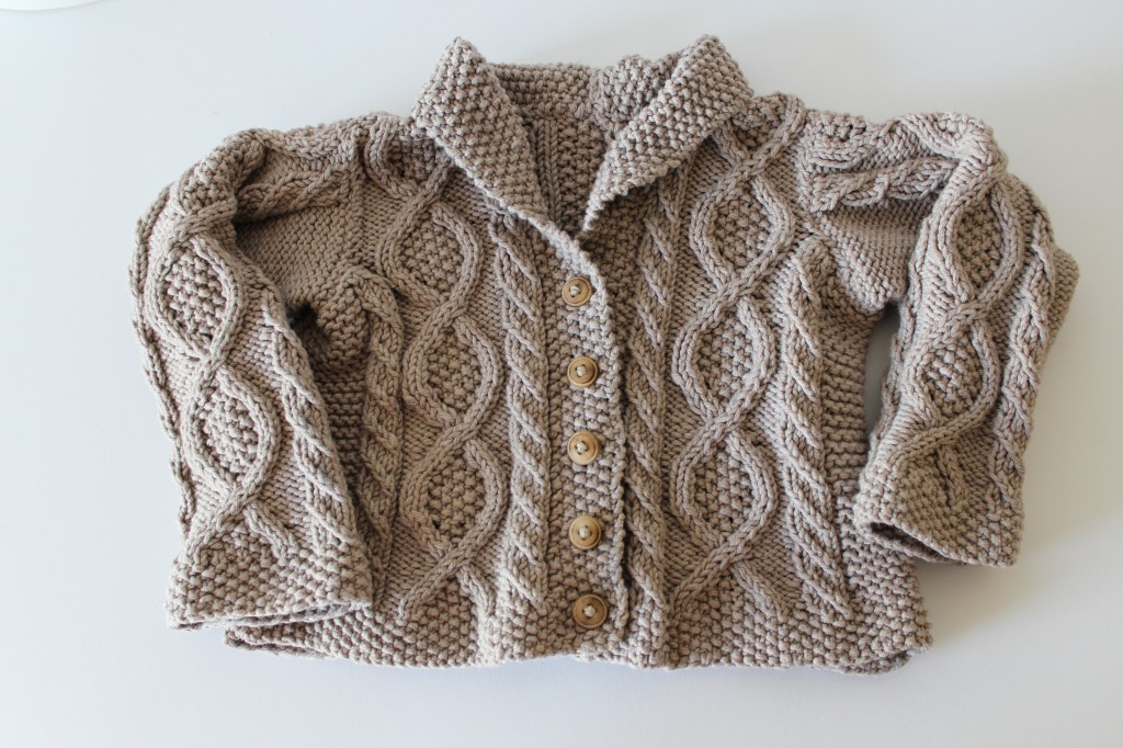 Trellis Sweater: A Shawl Collar Cabled Cardigan for the Baby