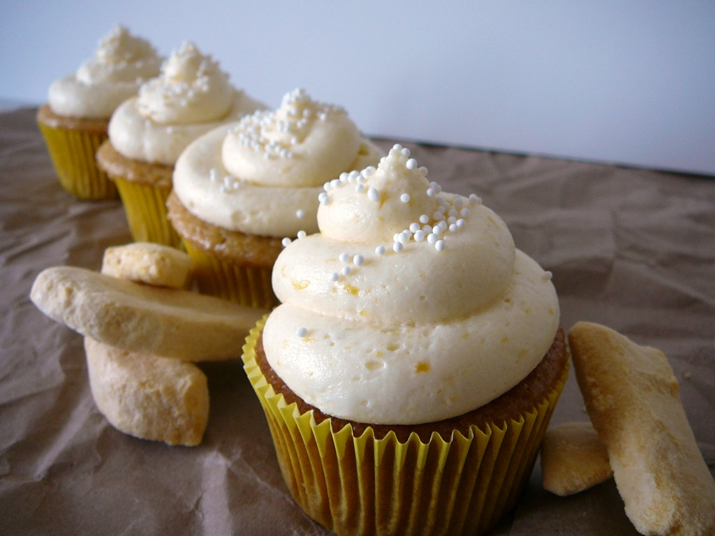 Mango Cupcakes with Mango Filling and Mango Frosting, Plus a Secret Mango Ingredient