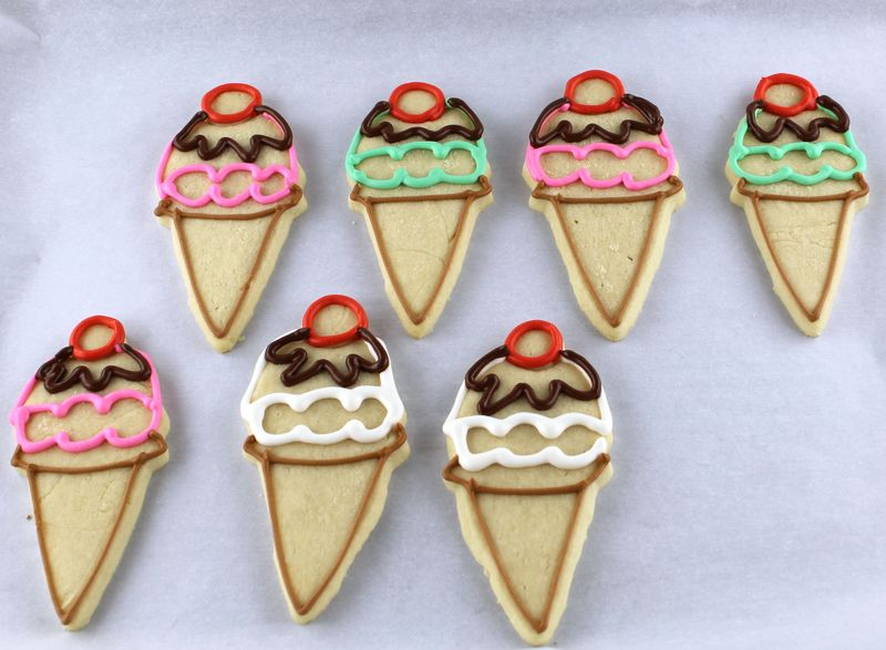 Ice Cream and Popsicle Sugar Cookies | The Crafting Foodie