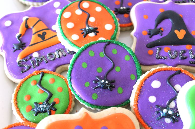 Halloween Ghost, Witch, and Spider Cookies | The Crafting Foodie