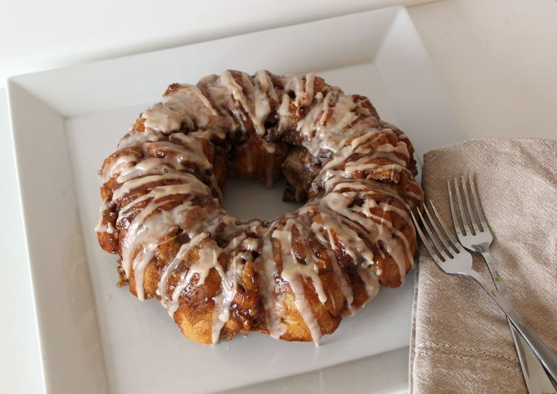 Apple and Walnut Pull Apart Bread | The Crafting Foodie