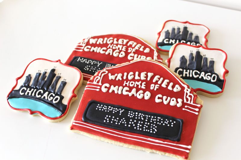 Chicago Theme Sugar Cookies | The Crafting Foodie