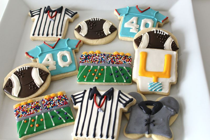 Football Decorated Sugar Cookies | The Crafting Foodie