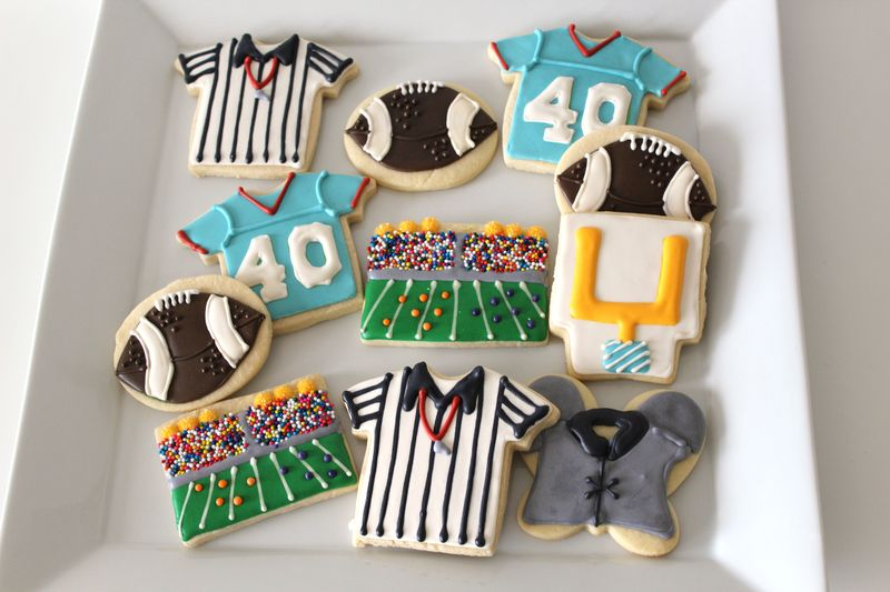 Football Sugar Cookies | The Crafting Foodie