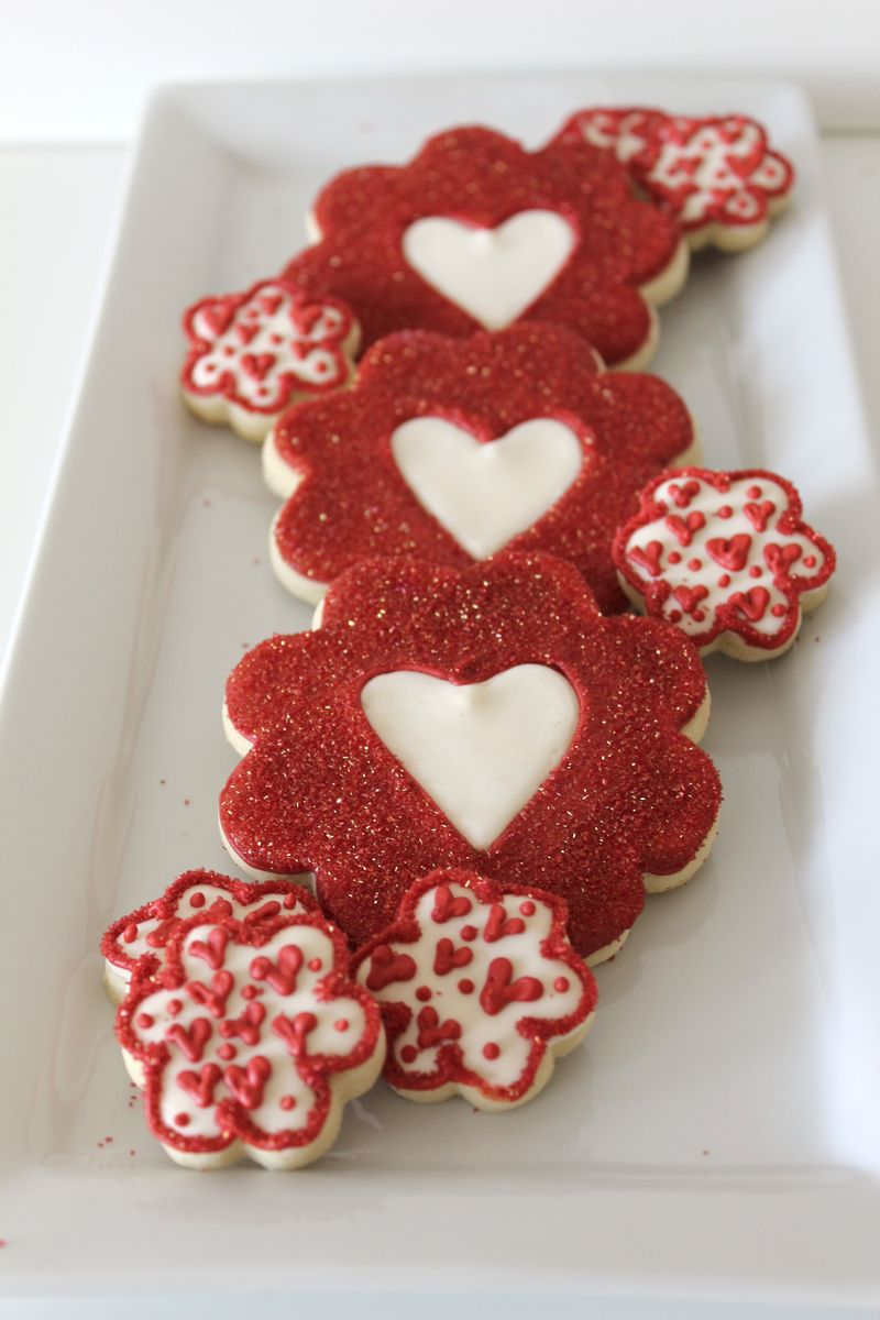 Heart Themed Cookies Valentine's Day | The Crafting Foodie