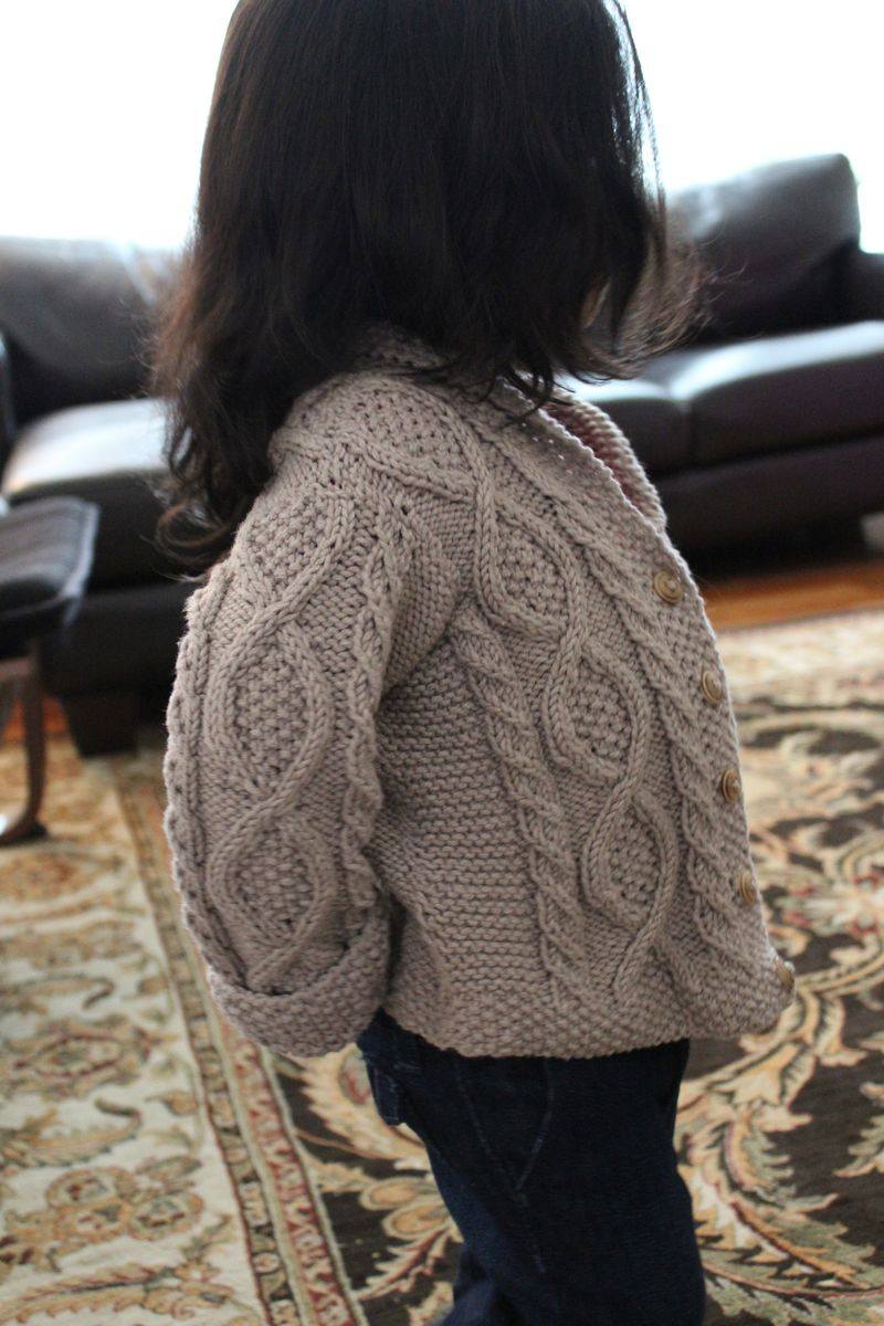 Shawl Collar Cable Cardigan | The Crafting Foodie