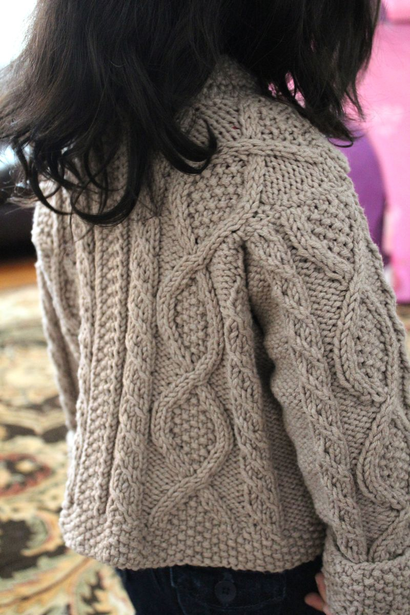 Shawl Collar Cabled Cardigan | The Crafting Foodie