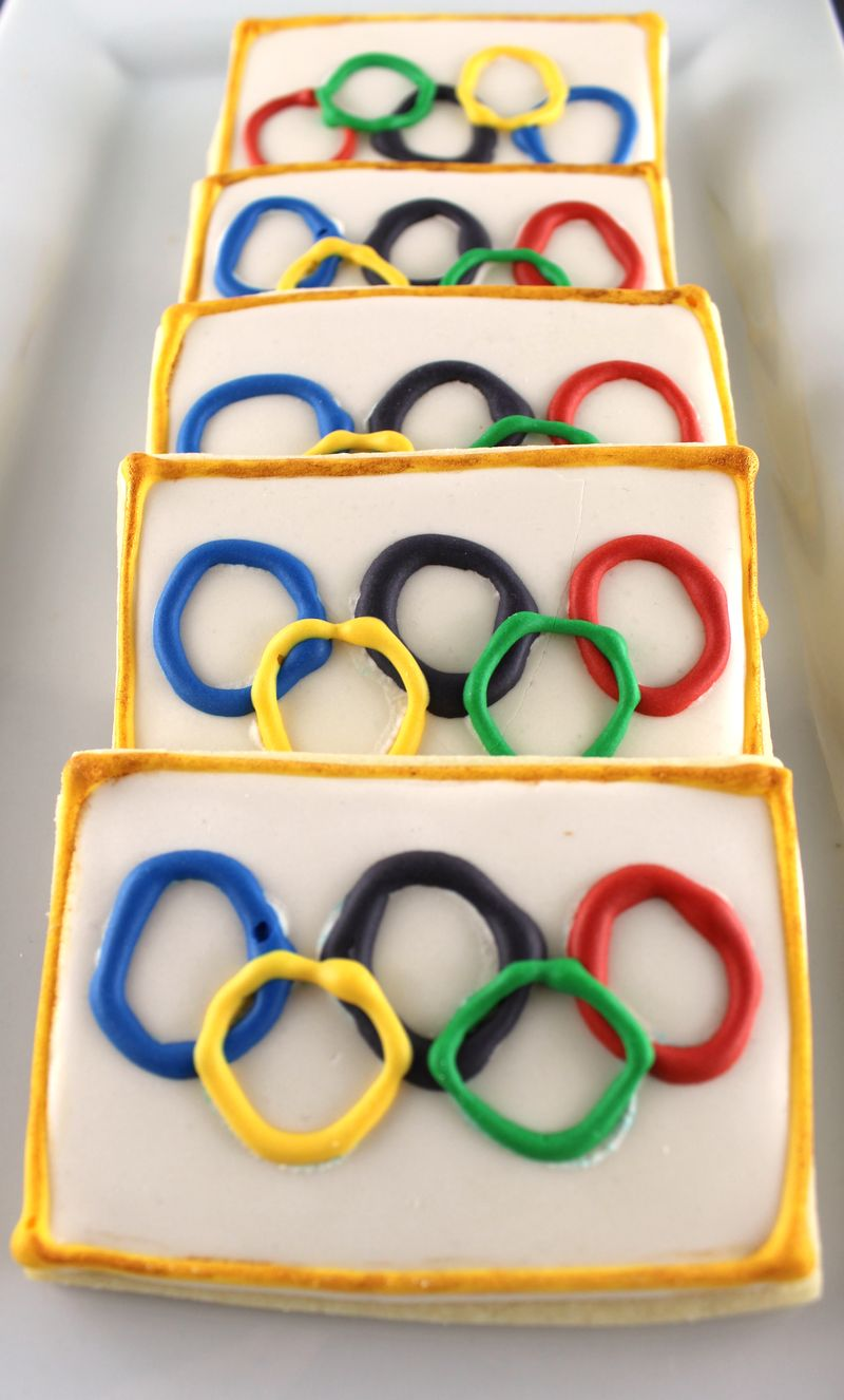 Olympic Decorated Cookies | The Crafting Foodie