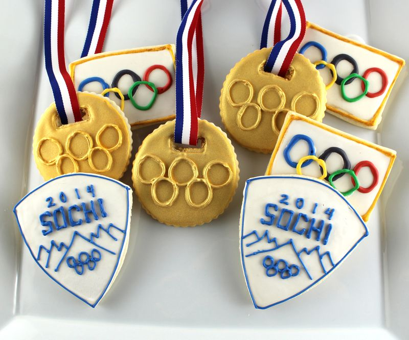 Olympic Themed Decorated Cookies