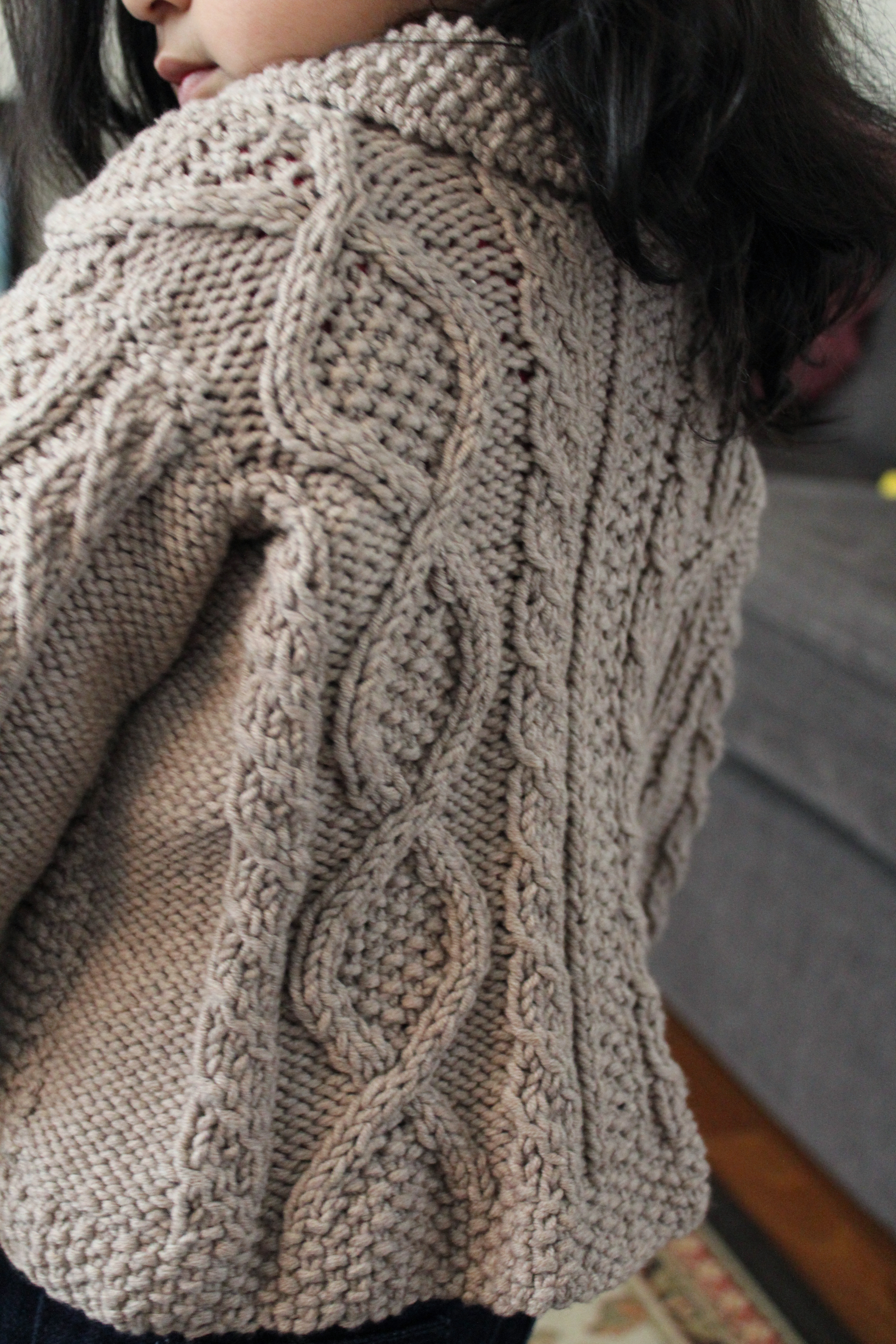 Trellis sweater a shawl collar cabled cardigan for the baby shawl cable cardigan the crafting foodie bankloansurffo Choice Image